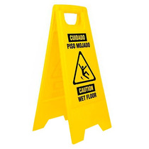 Letrero Advertencia De Piso Mojado 30 X 62 Cm Pretul 23020