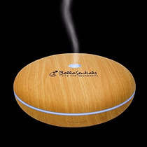 Difusor Aromaterapia!luz Led!350ml! Humidifica,ioniza!bambú!