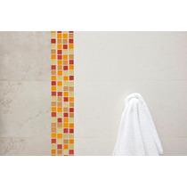 Malla Mosaico Cocina Baño Cristal Naranja Tendenzza Vbf