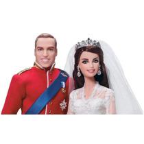 Barbie Set Boda Real William Y Catherine Gold Label Mattel