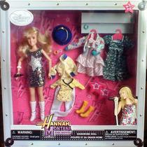 Hanna Montana Mega Set De Muneca Ropa Y Accesorios