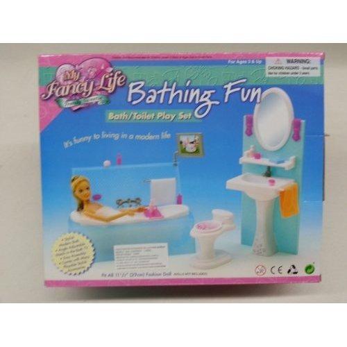 Tinas De Baño Tamanos:Barbie Tamaño Dollhouse Muebles- De Baño Diversión Con Tina