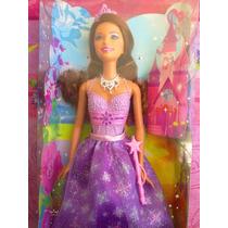 Barbie Parece Princesa Con Vestido Morado