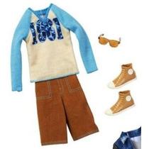 Barbie Moda Ropa De Ken -baseball Shirt Los Pantalones Y Las