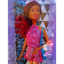 Barbie Fashionista Afroamericana Pelo Rojo