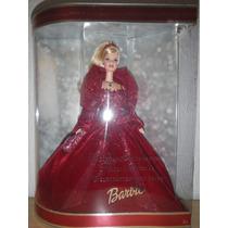 Muñeca Barbie Felices Fiestas 2002, Nueva De Colección!!!