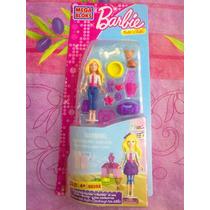Barbie Mega Bloks Set De Miniaturas Barbie Y Sus Cachorros