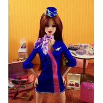 Ropa P/barbie Fashion Flight Attendant De Mattel