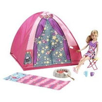 Barbie Hermanas Campamento Sale Set Con Stacie Doll Carpa Sa