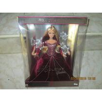 Barbie 2004 Holiday¿ Barbie Con Pestañas Reales Nueva
