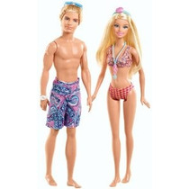 Barbie Y Ken Beach Doll Giftset 2-pack