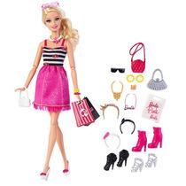 Barbie Muñeca De Moda Con Glam Accesorios