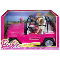 Muñeca Barbie Y Ken Jeep Crucero En La Playa Blakhelmet Sp
