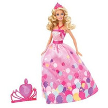 Barbie Princesa Cumpleaños Doll Gift Set