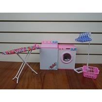Barbie De Tamaño Dollhouse Muebles- Lavadero Con Plancha Y T