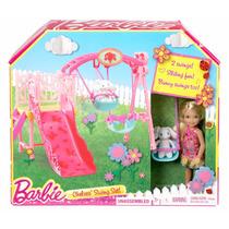 Hermana De Barbie Chelsea Set De Columpio Blakhelmet Sp