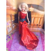 Muneca Marilyn Monroe Vestida De Gala Celebridad