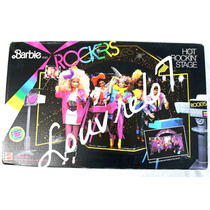 Barbie & The Rockers Escenario Camerino Vintage 80