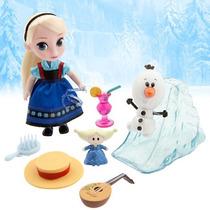 Elsa De Frozen Muñeca Mini Animators Coleccion Disney Store