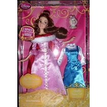 Disney Belle Singing Doll Y Vestuario Set