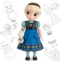 Muñeca Princesa Elsa Animators Original Disney Store