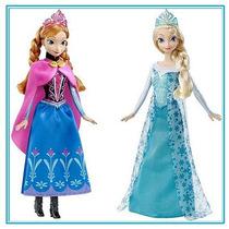 Muñeca Anna Y Elsa Frozen Princesas Disney Y Regalo Sorpresa