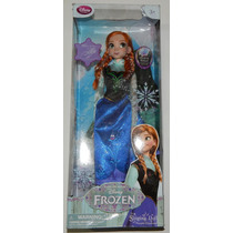 ### Disney Store Frozen Anna Singing Doll Canta Y Luces ###