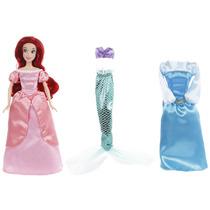 Muñeca Disney Collection Ariel Set Cambio De Vestido