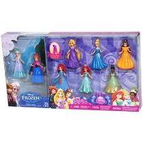 8-pc Doll Gift Set: 3.75 Disney Princess Con Anna Y Elsa De