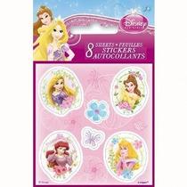 Fichas De Disney Princess Sticker 8ct