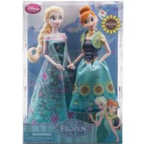 Muñecas Frozen Fever Estuche Anna Y Elsa Disney Store
