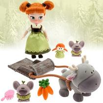 Anna De Frozen Muñeca Mini Animators Coleccion Disney Store