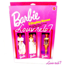 Barbie Set 3 Cajas P/ Exhibir, Guardar, Identificar, Display