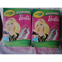 Barbie Crayola Termo 95 Piezas Para Decorar Botella