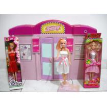Combo Mansion Britanny Mas 3 Muñecas, Barbie Para Niña