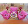 Mueble Para Casa De Muñecas Barbie Sala Grande Envio Gratis