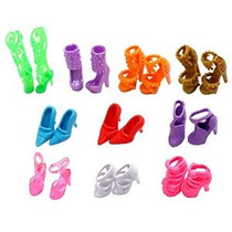 10 Pares De Zapatos Le Queden Muñeca Barbie Dolls (exactamen