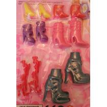 Accesorios Para Barbie Juego De Zapatillas