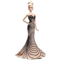 Muñeca Barbie Zuhair Murad Gold Label Dorada Nueva En Caja