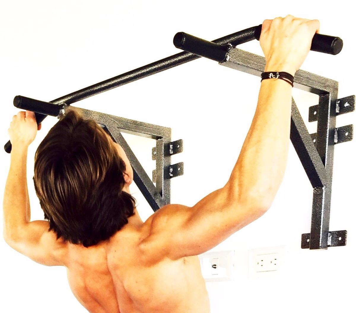 Barra para dominadas de espalda bicep uso rudo gym 930 for Aparatos de gym