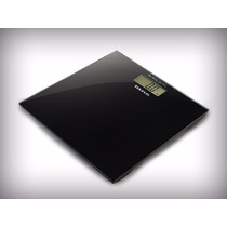 Bascula Balanza Digital Plana Cristal Templado Color Negro