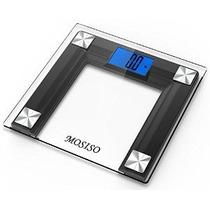 Mosiso - Alta Precisión Digital Báscula De Baño Con 4.3 Pan