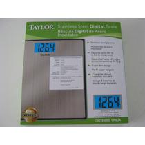 Bascula Digital De Acero Inoxidable Taylor, Precision Total