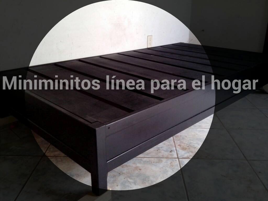 Base cama individual 1 en mercadolibre for Base cama individual