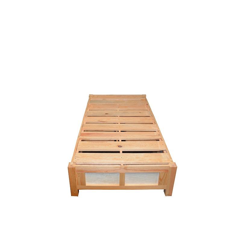 Base cama para colchon individual con cajones y zapatera for Base cama individual con cajones