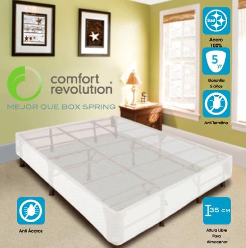 Base para cama colchon individual reemplaza box spring op4 for Como hacer una base para cama individual