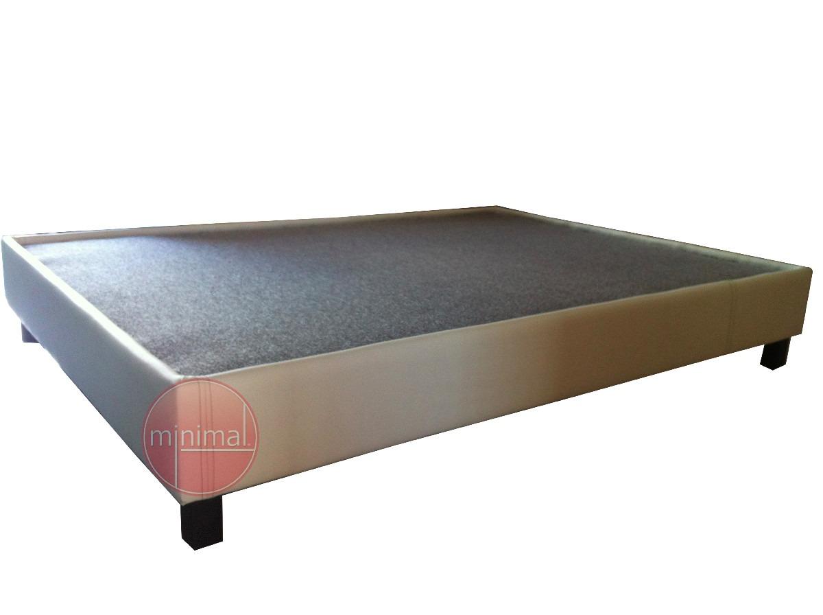 Base tapizada cama individual matrimonial queen y king for Camas king size