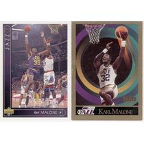 Lote De Karl Malone Utah Jazz ( 2 ) Tarjetas