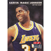 1992 Skybox Usa Off The Court Earvin Magic Johnson Lakers