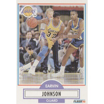 1990 - 91 Fleer Earvin Johnson Jr. Los Angeles Lakers
